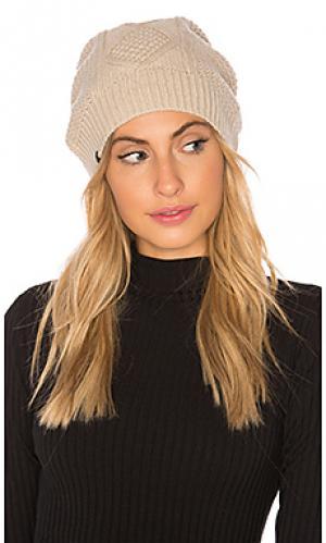 Шапочка с крупной вязкой fleece lined Plush. Цвет: беж