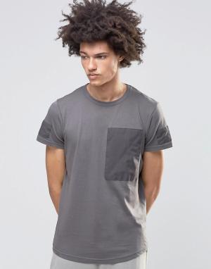Systvm Выбеленная футболка Zane. Цвет: серый