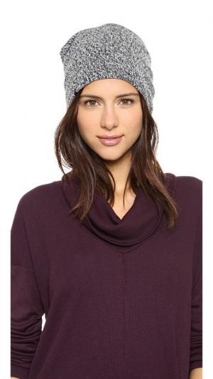 Фактурная шапка с напуском и подкладкой из флиса Plush. Цвет: черный/белый