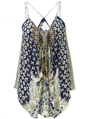 Блузка A Little Past Twilight Camilla. Цвет: зелёный