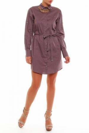Платье PRIO. Цвет: коричневый
