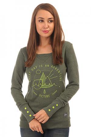 Толстовка свитшот женская  Aurora Kaki Picture Organic. Цвет: зеленый
