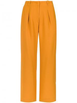 Dudu cropped trousers Egrey. Цвет: жёлтый и оранжевый