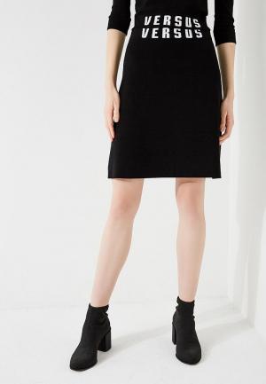 Юбка Versus Versace. Цвет: черный