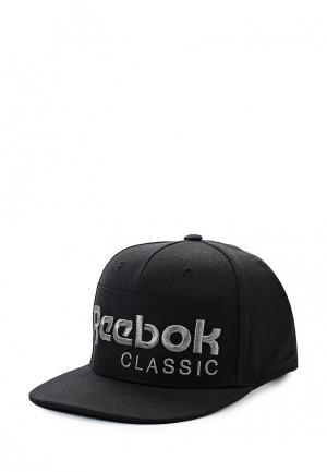 Бейсболка Reebok Classics. Цвет: черный