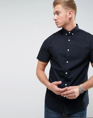Troy Поплиновая рубашка с коротким рукавом. Цвет: черный