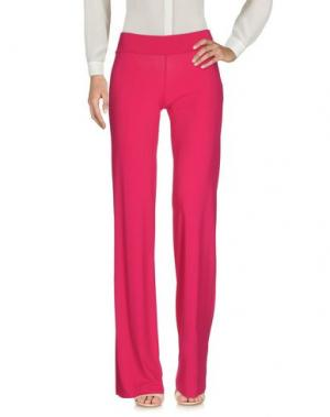 Повседневные брюки FRANCESCA FERRANTE. Цвет: фуксия