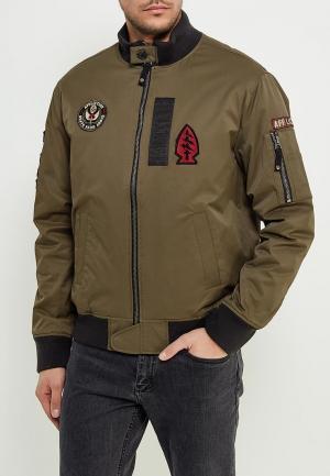 Куртка утепленная Affliction. Цвет: хаки