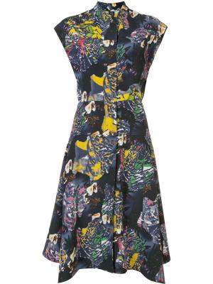 Платье-рубашка Adi Zero + Maria Cornejo. Цвет: синий