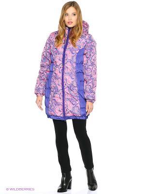 Куртка Адель. Цвет: темно-фиолетовый, розовый
