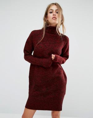 Rock & Religion Платье-джемпер Sarah. Цвет: красный