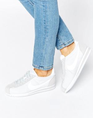 Nike Классические белые кроссовки Cortez. Цвет: белый