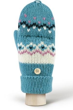 Перчатки MODO. Цвет: голубой