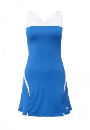 Платье Wilson. Цвет: синий