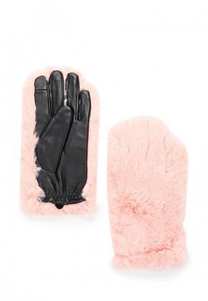 Перчатки Topshop. Цвет: розовый