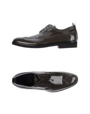 Обувь на шнурках BRUNO BORDESE. Цвет: свинцово-серый