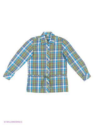 Рубашка Милашка Сьюзи. Цвет: серый, серо-зеленый, бледно-розовый