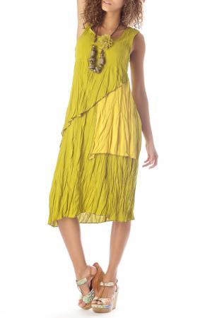 Платье ZEDD. Цвет: желтый