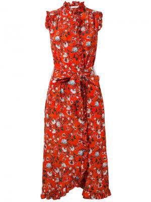 Платье Sebla Erdem. Цвет: красный