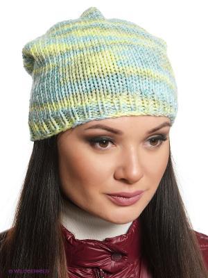 Шапка Ваша Шляпка. Цвет: голубой, бежевый, салатовый