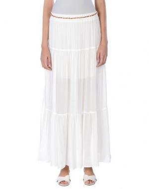 Длинная юбка KARTIKA. Цвет: белый