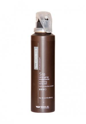 Спрей-воск моделирующий Brelil Professional. Цвет: коричневый