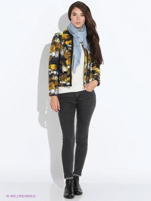 Куртка GEOX. Цвет: черный, желтый, белый