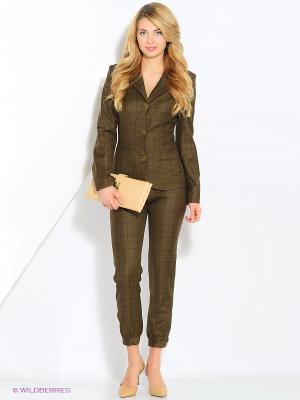 Пиджак Elena Shipilova. Цвет: коричневый