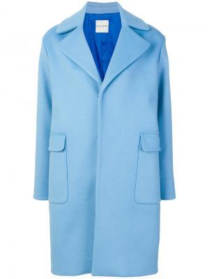 Пальто с вышитым логотипом Each X Other. Цвет: синий