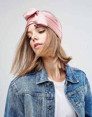 ASOS Широкий головной платок. Цвет: розовый