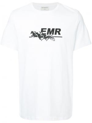 Футболка с принтом-логотипом Éditions M.R. Цвет: белый