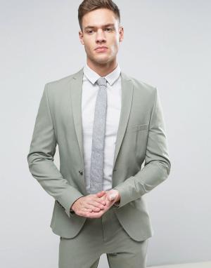 Selected Homme Супероблегающий пиджак. Цвет: зеленый