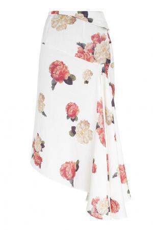 Юбка с принтом A.W.A.K.E.. Цвет: белый, кремовый, розовый
