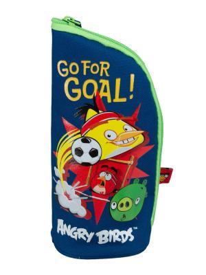 Пенал - подставка. Angry Birds. Цвет: зеленый, красный, синий