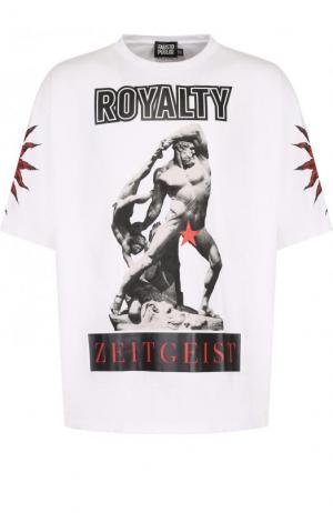 Хлопковая футболка с принтом Fausto Puglisi. Цвет: белый