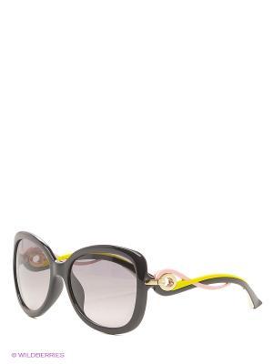 Солнцезащитные очки CHRISTIAN DIOR. Цвет: черный, розовый, желтый