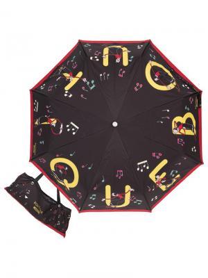 Зонт складной Moschino 7070-OCA Boutique Olivias Black. Цвет: черный,красный,желтый