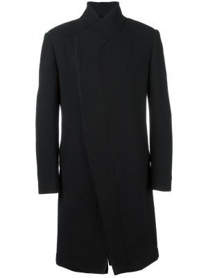 Пальто миди с потайной застежкой Tom Rebl. Цвет: чёрный