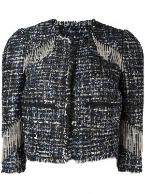 Укороченная куртка с бахромой Marco Bologna. Цвет: чёрный