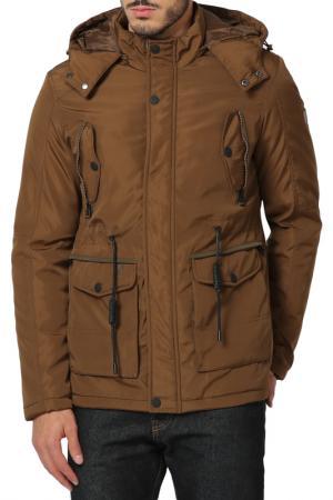Куртка THE TIME OF BOCHA. Цвет: коричневый