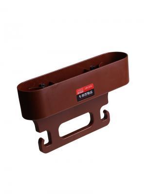 Органайзер для заднего сидения авто с креплением на стойки подголовника Blonder Home. Цвет: коричневый