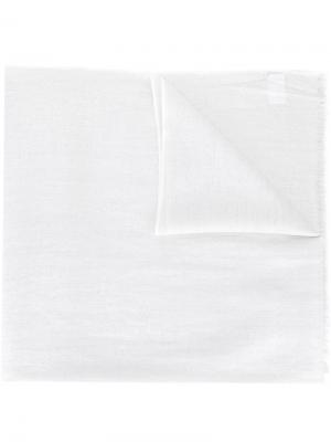 Газовый платок с бахромой Brunello Cucinelli. Цвет: белый