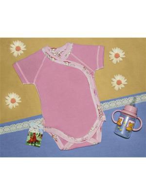 Боди-распашонка швами наружу Рыжий Лис. Цвет: лиловый