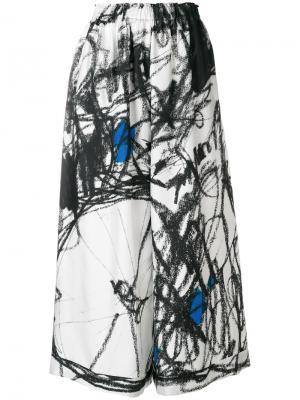 Широкие брюки на резинке Daniela Gregis. Цвет: многоцветный