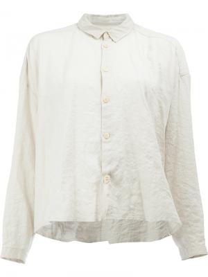 Укороченная рубашка с мятым эффектом Toogood. Цвет: белый