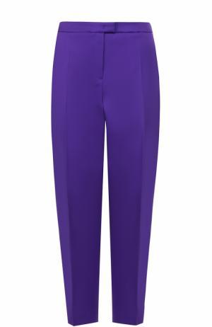 Укороченные брюки прямого кроя со стрелками Escada. Цвет: фиолетовый
