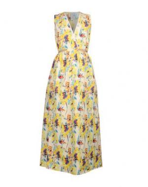 Длинное платье AGLINI. Цвет: желтый