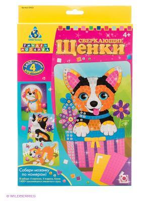 Мозаика-набор Сверкающие щенки The ORB factory. Цвет: желтый, голубой, розовый
