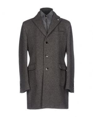 Пальто LUIGI BIANCHI Mantova. Цвет: темно-коричневый