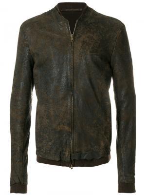 Фактурная куртка Salvatore Santoro. Цвет: коричневый